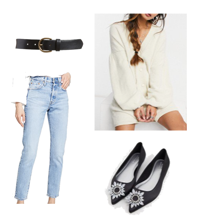 Pair this look with a black tank, and wear the cardigan open